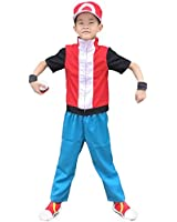 Miccostumes Boy's Pokemon Cosplay Costume Red
