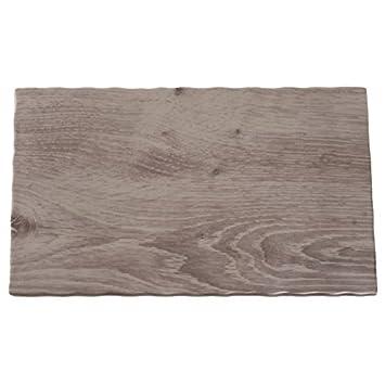 APS gk648 efecto de madera bandeja de melamina, 1/4 GN
