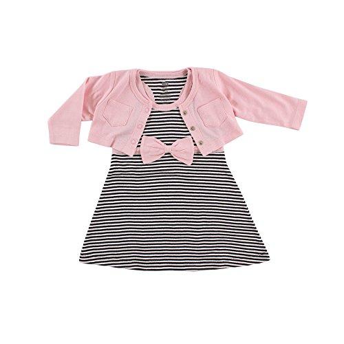 Hudson Baby Girls' Cropped Cardigan and Racerback Dress, ...