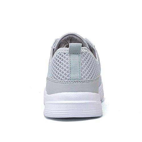 Chaussures de Sport Basket d'été Running Respirantes Athlétique Sneakers Courtes Fitness Tennis Homme Femme 35-48 EU Gris GqvToOYX08