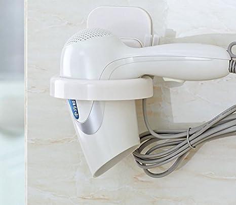 Pasta de goma pelo secador toalla estante baño estante estante pared secador de pelo potente secadora estante toallero: Amazon.es: Hogar