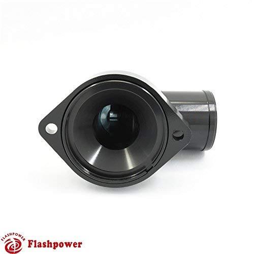 BilletSwivelThermostatHousingsWaterNecK90 1.5'' LS Engine Black