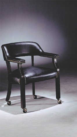 Captain Chair with Caster in Black and Cherry Wood for sale  Delivered anywhere in USA