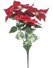 TOYANDONA 2 Stks Kerst Poinsettia Boeket Kerst Kunstmatige Poinsettia Bloemen Struiken Bloemstuk Tafel Centerpieces Decoraties