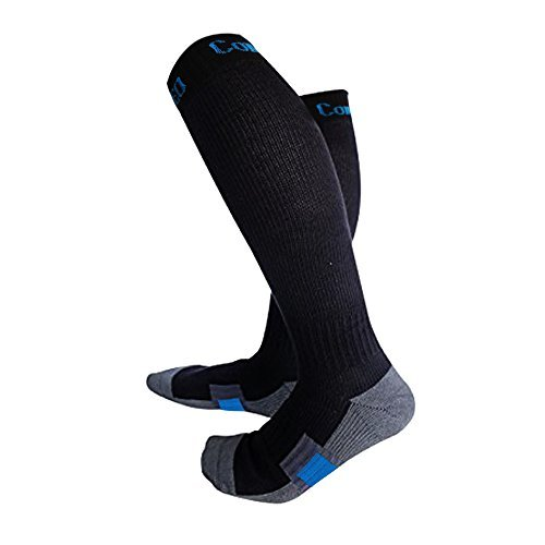 Premium Compression Socks, Reinforced Ankle and Arch Support with Foot Padding, Pressure dispersing heal, Enhanced Stability of Ankles, Ideal for Running, Cycling, Hiking, Flight Travel and Much More