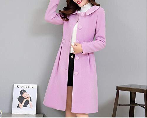 lana giacca morbido grigio caldo e vento inverno donna sottile in inverno lungo cotone chiaro per autunno donna giacca Ab Cappotto autunno di a rosa inverno 6B0qxEw