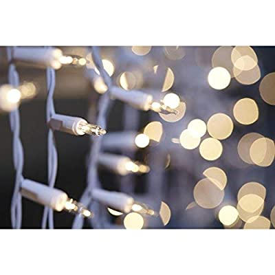 GE 300 Icicle-Style String-A-Long Clear Lights, Indoor or Outdoor - String Lights - .com