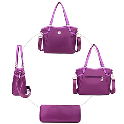 Bag Black Waterproof C Women`s Cross Body Handbag Casual Purse Fashion Traveler Tote Bag Nylon Messenger xxqA6wZ