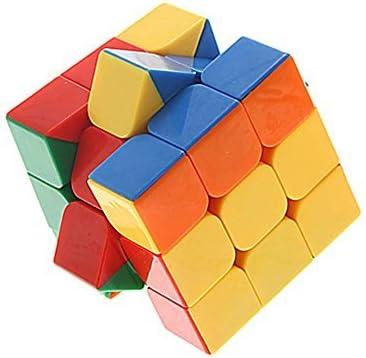 Montez 3x3x3 Stickerless Rubik Magic Cube Puzzle Toy (Multicolour)