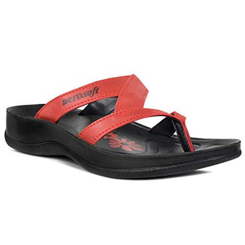 Aerosoft Arch Supportive Deke, Kumo, Tuck & Zeus Style Sandals (US Women Size 11, Kumo - Red)