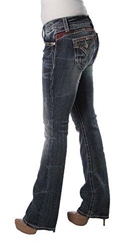 Miss Me Women's Embellished Slim Boot Cut, Medium Blue,26 by Miss Me (Image #2)