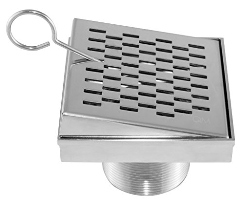 Qm Square Tile Insert Shower Drain Base And Grate Made Of