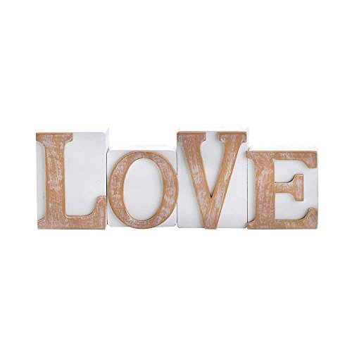 LOVE Inspirational Wood Tabletop Word Plaque Blocks