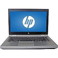 2017 HP 14 HD Elitebook 8470P Business Laptop Computer, Intel Dual Core i5 2.6 Ghz Processor, 8GB Memory, 240GB SSD HDD, DVD, VGA, RJ45, Windows 10 Professional (Certified Refurbishd)