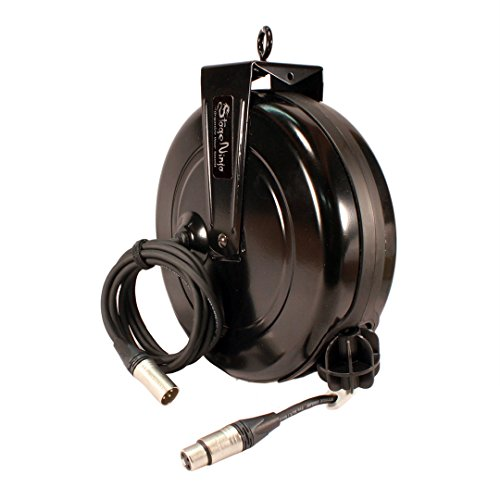 Stage Ninja XLR-60S Dual Shield Premium Retractable XLR Cable System with Female Retractable End for Microphone Applications, 60-foot by Stage Ninja