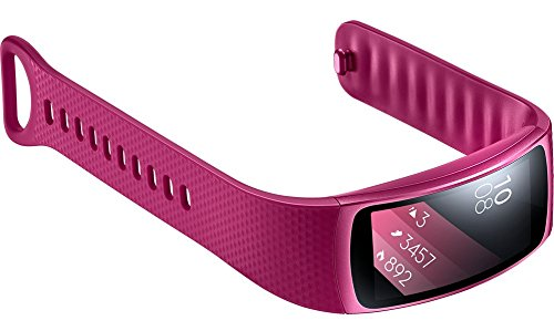 Samsung Gear Fit2 SM-R360 Sports Band Smartwatch/iPhone Compatible [Asia Version] (Pink - Small) by Samsung (Image #5)