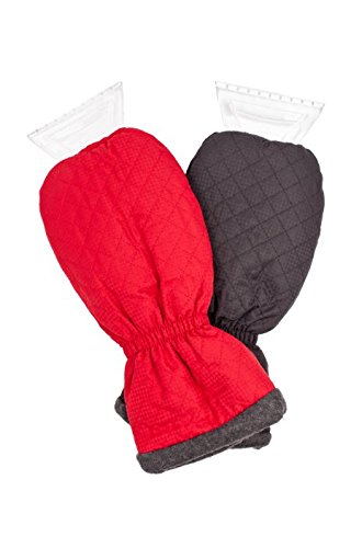 X-Gear Solid Ice Scraper Mitts (2-Pack, Black and Red)