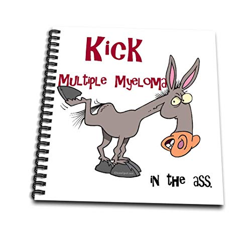 3dRose Kick Multiple Myeloma in The Ass Awareness Ribbon Cause Design-Mini Notepad, 4 by 4