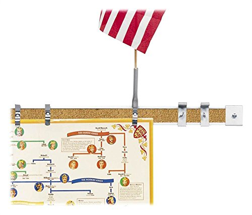 2 in. Map Rails and Accessories - Set of 6 (6 ft. Sections) by Best-Rite