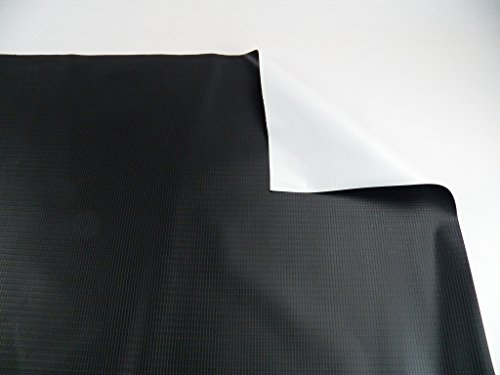 Vinyl Tarp 13 oz. Heavy Duty Black / White Pond Liner Waterproof (16
