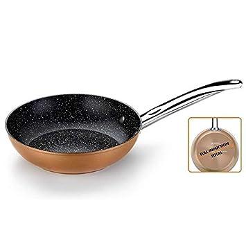 MONIX Sartén copper monix m740028 - ø28cm - espesor base 4mm - aluminio forjado con antiadherente quantanium - todo tipo de fuego +: Amazon.es: Hogar