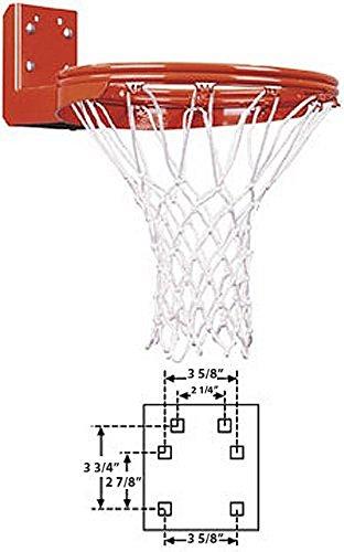 Double Mount Rear Rim - First Team Super Duty Double Rim Rear Mount Fixed Basketball Goal