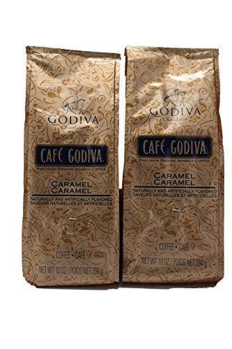 Cafe Godiva Caramel Coffee 10 Oz (Pack of 2)