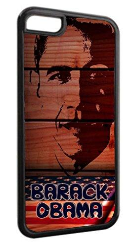 Barack Obama Art Black Plastic Apple iPhone 7 Plus (7+) Case Made in the U.S.A.