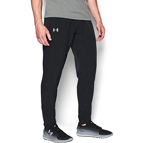 Under Armour Men's No Breaks Stretch-Woven Run Pants, Black/Black, XX-Large