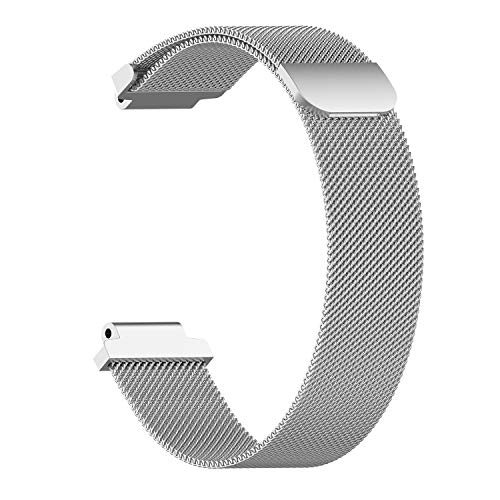 Magnetic Ring Bracelet for Garmin Forerunner 220 230 235 630 620 735 235 Approach S20 S5 S6 Watch Strap Watchband Milanese Band(L,Silver)