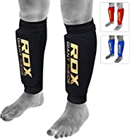 RDX Shin Guards for Muay Thai, Kickboxing, MMA Training and Fighting, Approved by SATRA, Leg Protector Foam Pa