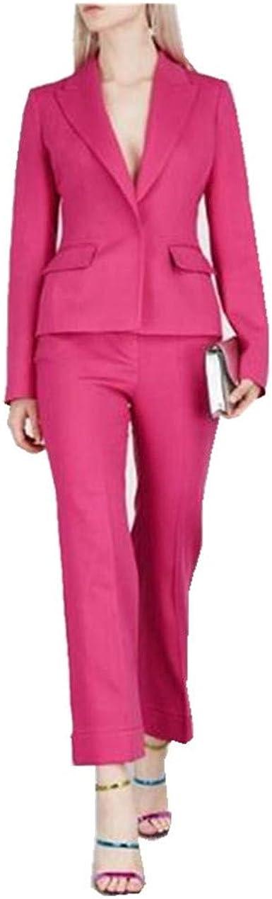Amazon Com 2 Piezas Mujeres Chaqueta Pantalones Trajes De Negocios De Las Senoras Trajes Femeninos Esmoquin Por Encargo Clothing