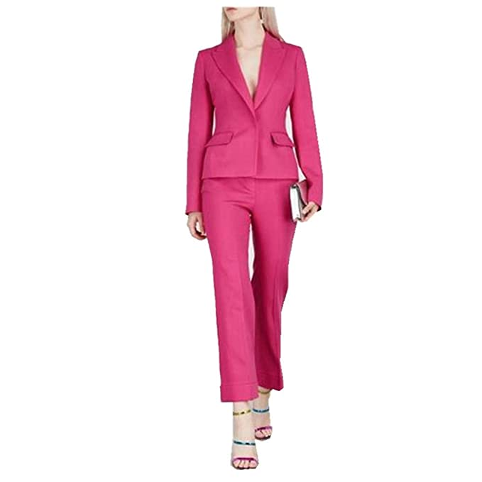 Amazon.com: 2 piezas de pantalones de mujer (chaqueta + ...