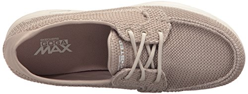 Skechers Women's Go Step-Deck Boat Shoe Taupe factory outlet for sale EJtrZJzgEe