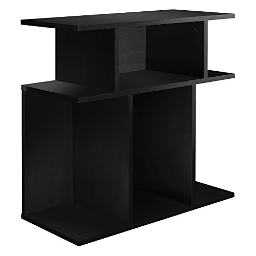 Monarch Specialties I 2473, Accent Side Table, Black, 24H