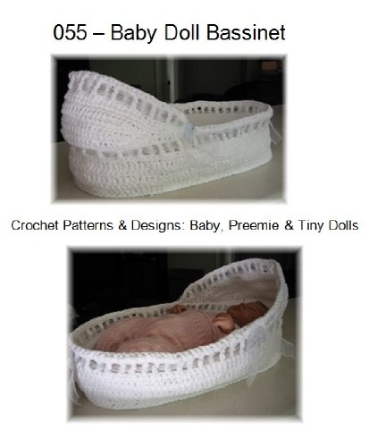 Baby Doll Bassinet: Crochet Pattern for Baby, Preemie, and Tiny Dolls (Patterns By Jeannine) (For Moses Basket Dolls)