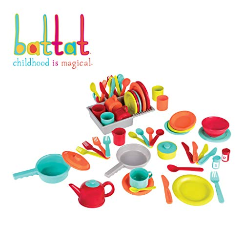 - Battat - Deluxe Kitchen - Pretend Play Accessory Toy Set (71 Pieces Including Pots & Pans)