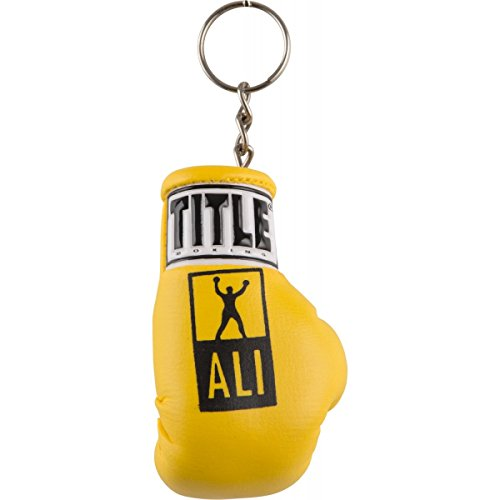 Title Boxing Ali Boxing Glove Keyring, Yellow