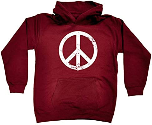 Peace Sign Funny Novelty Sweatshirt Jumper Top