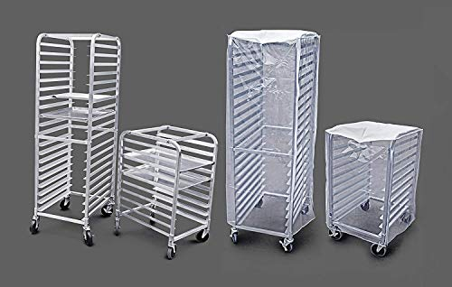 New Star Foodservice 36527 Commercial-Grade Aluminum 20-Tier Sheet Pan/Bun Pan Rack, 26'' L x 20'' W x 69'' H with Brake Wheels by New Star Foodservice (Image #8)