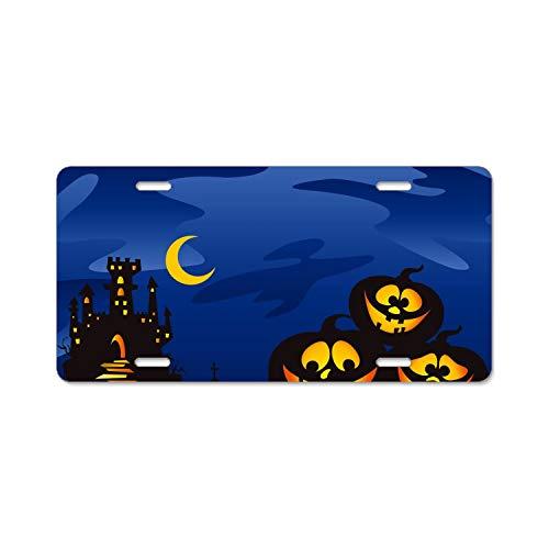 HHAT Halloween Pumpkins License Plate Frames Fine Slim Frame Standard Size -