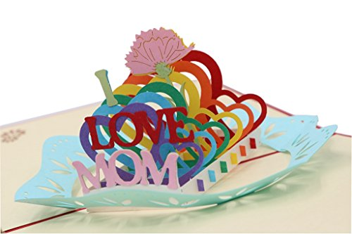 IShareCards Handmade 3D Pop Up Card Thank You Greeting Card for Mother's Day or Birthday or Other Occasions