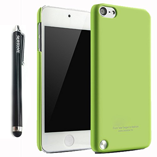 Matone Case For iPod Touch 5 Case Hard and Soft Frosted Series Ultra-Thin Protection Case or Apple iPod Touch 5 iTouch 5th Generation With 1 Screen Protector (Green)