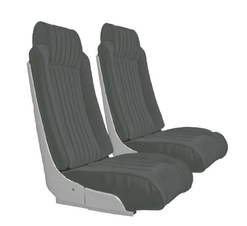 (Acme U2009S-628HR Charcoal Vinyl with Charcoal Velour Front Bucket and Rear Bench Seat Upholstery)