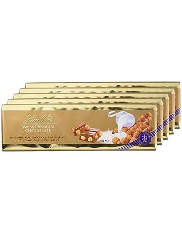 Lindt Tableta de Chocolate con Leche con Avellanas Enteras - 5 Paquetes de 300 gr -