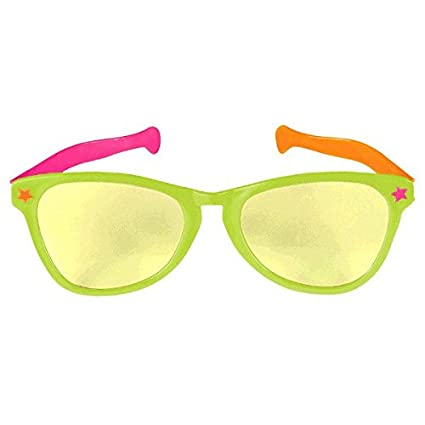 Buy Jumbo Eye Glasses in Neon Colors Summer Night Costume Party Accessory 171a1ef684f07