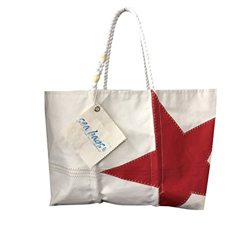 SEA Bags Hand Made In USA Bianca e rossa con Stella