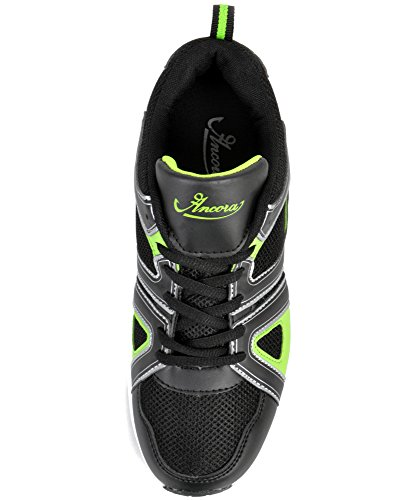 Twee Stappen Voorwaarts Mens Ancora Schoenen Zwart