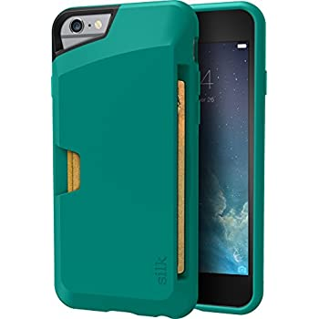 timeless design c2936 581e4 Smartish iPhone 6/6s Wallet Case - Wallet Slayer Vol. 1 [Slim + Protective]  Credit Card Holder for Apple iPhone 6s/6 (Silk) - Pacific Green