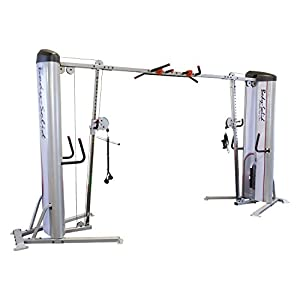 Body Solid S2CCO 1 Pro Clubline Series II Cable Crossover with 160 Lb. Dual Weight Stack for Home and Commercial Gym…